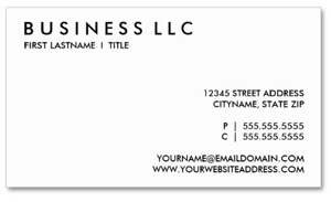 Boring Business Card